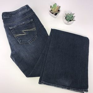 4053  Silver Aiko Dark Wash Boot Cut Jeans Size 28
